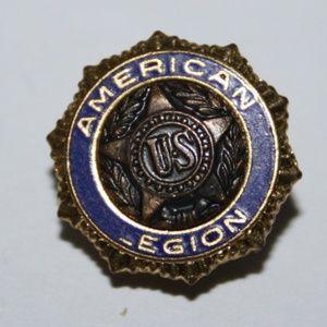 Vintage American Legion Pin Gold